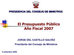 Precidencia del Consejo de Ministros