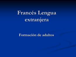 Français langue étrangère. Formation des adultes