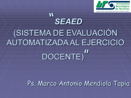 seaed (sistema de evaluación automatizada al ejercicio docente)