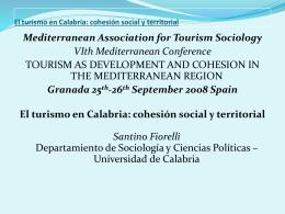 El turismo en Calabria: cohesión social y territorial