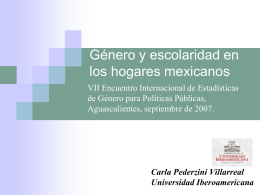 Género y escolaridad en los hogares mexicanos