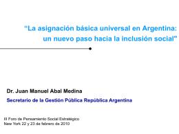 + Juan Manuel Abal Medina - Observatory on Latin America