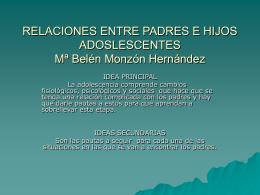 RELACIONES ENTRE PADRES E HIJOS ADOSLESCENTES