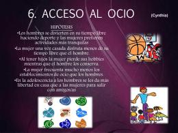 7- REPARTICION DE TAREAS Y OCIO 2003