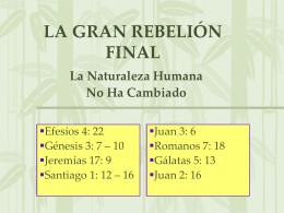 LA GRAN REBELIÓN FINAL - Iglesia Cristiana La Serena