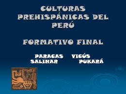 culturas prehispánicas del perú formativo final