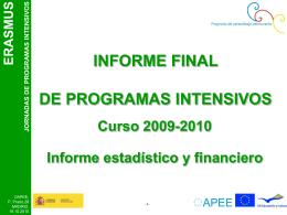 Cierre de IPs 2009-2010. Informe Final