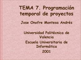 7. Programación temporal de proyectos.