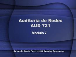 Auditoría de Redes AUD 721