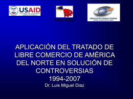 Solución Disputas en NAFTA