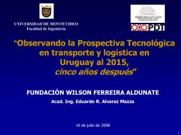 Presentacion Final PT 2015 - Fundación para la Democracia Wilson