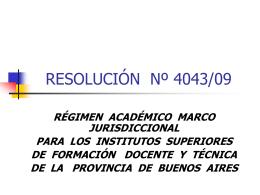 RESOLUCIÓN Nº 4043/09