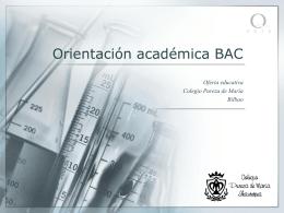Orientación académica BAC