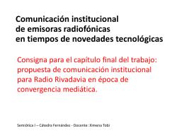 Consigna para la entrega final: propuesta de comunicación