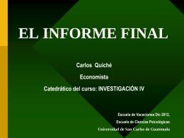 el informe final - Rescate Estudiantil