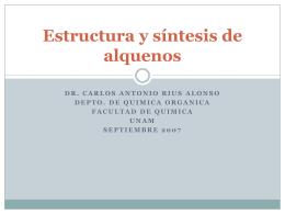 Estructura y síntesis de alquenos