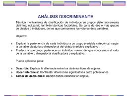 análisis discriminante
