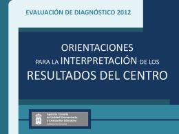 Evaluación de diagnóstico 2012