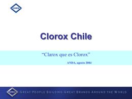 Clorox Chile Creando Valor en la Categoría de Cloro