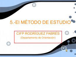 5.-El MÉTODO DE ESTUDIO
