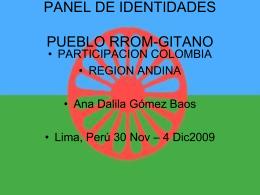 proceso organizativo del pueblo rrom-gitano