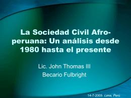 La Sociedad Civil Afro-peruana: Un análisis desde