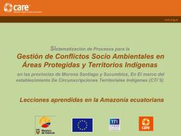 Conflictos Areas Protegidas Territorios Indígenas