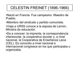 CELESTIN FREINET (1896-1966)