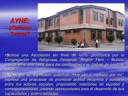 Presentació AYNE Perú