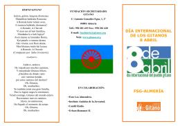 Díptico 8 de Abril en Almería - Fundación Secretariado Gitano
