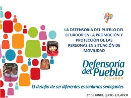la defensoría del pueblo del ecuador en la promoción y protección
