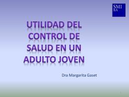 Utilidad del Control de Salud en un adulto joven