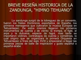 BREVE RESEÑA HISTORICA DE LA ZANDUNGA