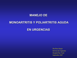 Oligoartritis y Poliartritis
