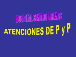 Diapositiva 1 - Hospital Centro Oriente