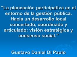 Gustavo Di Paolo PRESENTACION REPUBLICA DOMINICANA