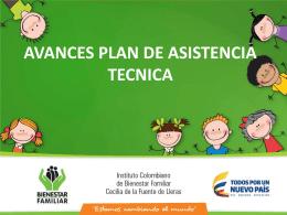 avances plan de asistencia tecnica