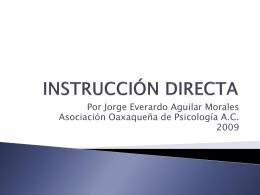 La instrucción directa