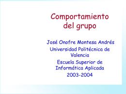 Comportamiento del grupo - Universidad Politécnica de Valencia