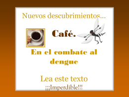 DENGUE Y BROZA DEL CAFE