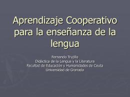 Aprendizaje Cooperativo para la enseñanza de la lengua