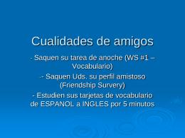 Cualidades Acciones - Language Links 2006