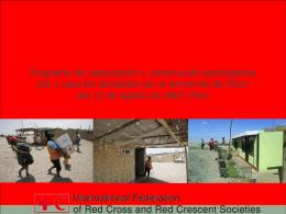 5. Programa de capacitación y construcción participativa