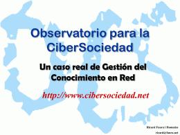 Observatorio para la CiberSociedad