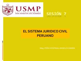 el sistema juridico civil peruano