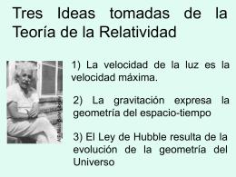 Tres ideas tomadas de las teorías de Einstein