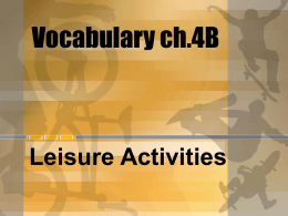 Vocabulary ch.4B