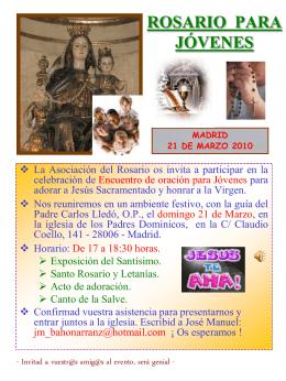 rosario para jóvenes - Asociación y Cofradía del Rosario