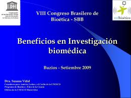 Concepto de Beneficio en Investigación biomédica