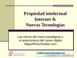 Propiedad intelectual Internet & Nuevas Tecnologías